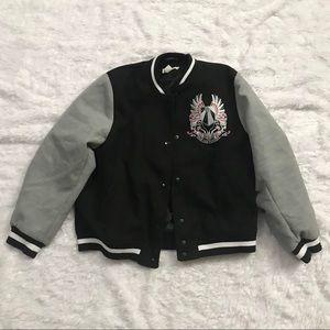 H&M Size 12 Vive Les Femmes Varsity Jacket